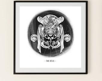 The Devil - Tarot Art Print - CAPRICORN