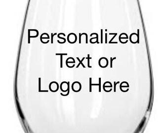 Personalized Glass Stemless Wine Glass