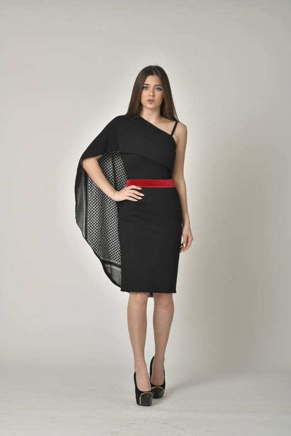 PLUS Größe MIDI-Designer kleine schwarze Kleid / stilvolle
