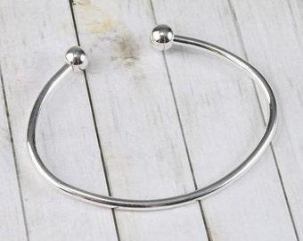 Semi-circular bracelet for charms/bracelet/charms/Gift