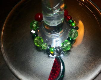 Watermelon Wine Charm