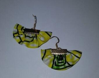 Earrings made of wax