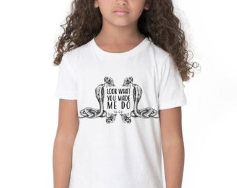 Taylor Swift Reputation Shirt // Taylor Swift Kids Tee - Taylor Swift Lyrics // Kids Shirt - Girls Shirts With Sayings // Kids Band Tee