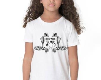 Taylor Swift Reputation Shirt // Taylor Swift Kids Tee - Taylor Swift Lyrics // Kids Shirt - Girls Shirts With Sayings // Kids Band Tee