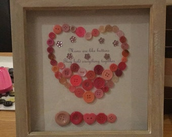 Mother's Day. Perfect handmade gift. Choose your own quote and colours. Message me for more details