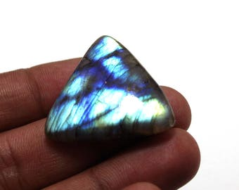 50.20cts Natural Multi flash Labradorite Trillion 29x32x7 mm  Labradorite loose gemstone amazing & beautifull Labradorite nice flash AA-47