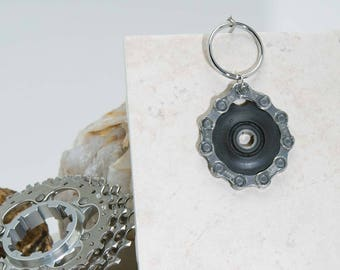 Bicycle Chain Keyring Jockey Wheel Chain Wrapped