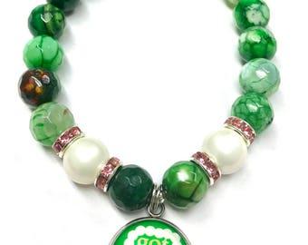 Beaded AKA Sorority Bracelet