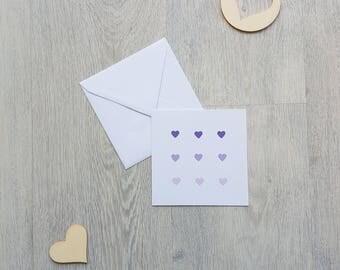 card Valentine's day, love card, love, heart, handmade, custom map card card card and envelope, greeting card
