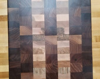 Custom balck walnut and maple endgrain cuttingboard
