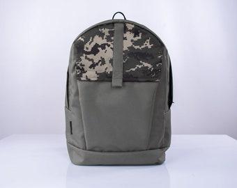 Top canvas Rucksack,Travel canvas rucksack,Mens canvas backpack,Waxed canvas backpack,Canvas Laptop Backpack,Gray top Rucksack,Travel Bag