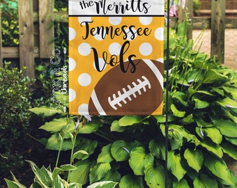 Personalized Tennessee Volunteers Garden Flag - Collegiate - UT Vols - Smokey - Football