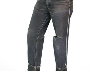 Redesigned Reversed Distressed Levi's 550 Denim Jeans