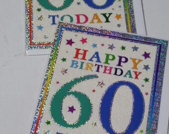 12 cards 60TH BIRTHDAY CARDS, just 27p - We also have birthday cards / christmas cards / thank you cards
