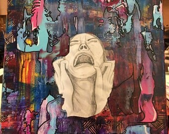 Abstract Screaming Woman