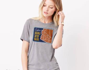 Explore Arizona: Adult's Unisex CVC Blend T-Shirt