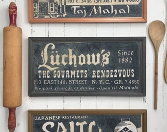 Retro Retired Restaurant (RRR),  kitchen decor boards by MD. Luchow's.
