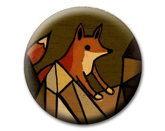 little FOX PURSE MIRROR - bohemian style, boho gifts, travel accessories, rustic gifts for her, unique gifts for sisters, gifts for friends