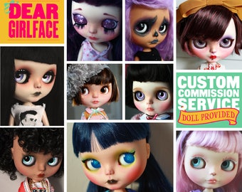 OOAK Custom Blythe Art Doll Commission Spot by Dear Girlface Dolls - DOLL PROVIDED