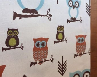 Designer Dog Crate Cover, Owls Natural Cover, YOU Choose Fabric, Crate Cover, Pet Crate Cover, Personalization & Grommets Extra