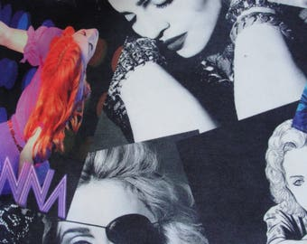 Madonna printed Cotton fabric Hollywood popart