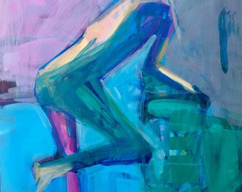Figure study in jewel tone