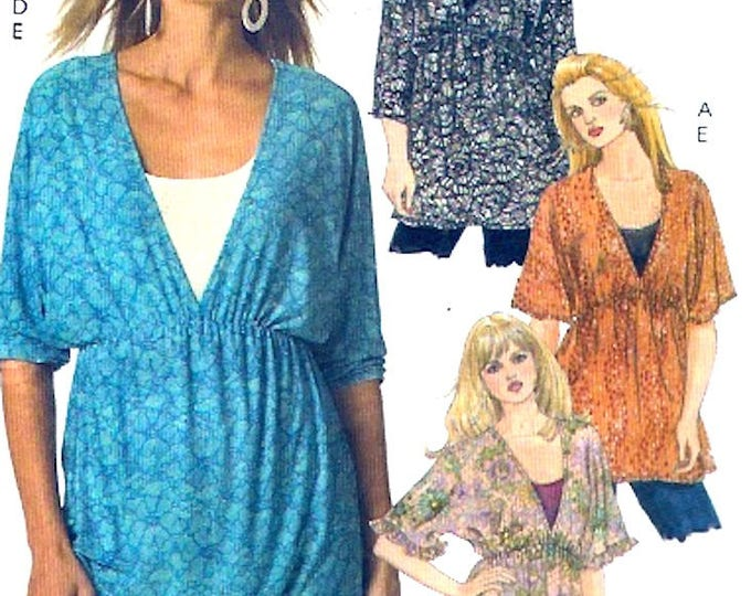 Boho Tunic tops casual chic sewing pattern McCalls 5436 Easy Size 10 to 18 Uncut
