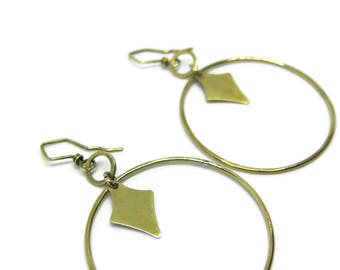 brass hoop earrings circles