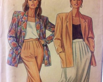 Uncut Sewing Pattern Simplicity 7226 Misses' Separates Jacket Skirt Pants  Bust  32-40  Inches Complete