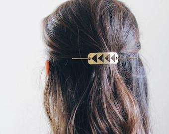 Flying Geese Hair Pin | Brass Hair Clip | Brass Hair Slide | Hair Barrette | Hair Accessories | Silver Hair Clip | Silver Hair Slide