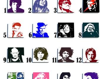 Pop Icons - Stone Drink Coaster Set - Pick Any 4
