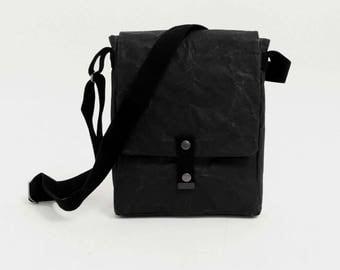 Black Paper & Cotton Sling Bag