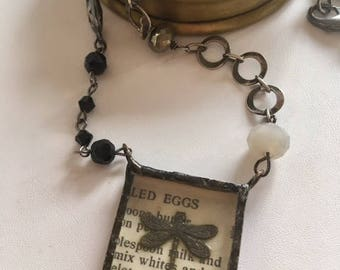 Butterfly Pendant Necklace-Butterefly Art Charm Necklace