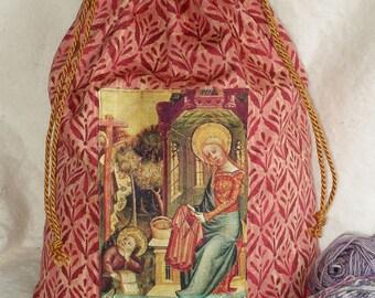 Blessed be the Knitter, Knitting bag, knitting project holder