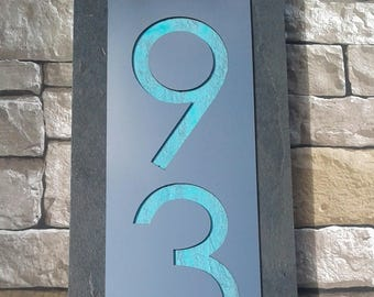 Mid-Century Modern HOUSE NUMBERS Contemporary Address Plaque