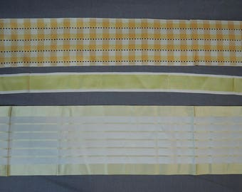 Lot of Vintage Silk Ribbon, 3 Styles of Antique Ribbon Remnants 1920s or older