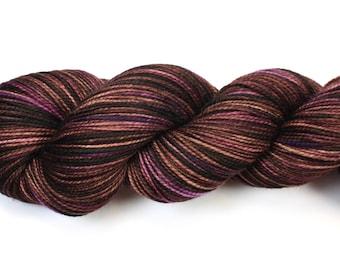 Sugar Plum--hand dyed sock yarn, 2ply merino and nylon, (400yds/100gm)