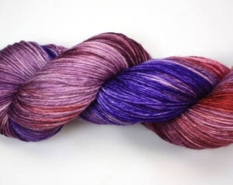 Clara--hand dyed sock weight yarn, MCN (435yds/100gm)
