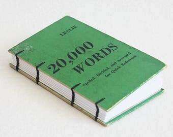 Old Book Journal / Recycled Pocket Notebook / Vintage Book Journal / 20000 Words Rebound Journal Blank Book by PrairiePeasant