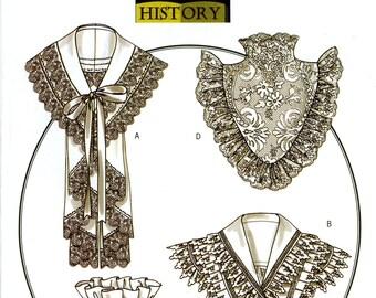 Butterick B4698 Making History Civil War Victorian Ladies Collar Reinactment Rachel Wallis Size Sml Med Lrg Uncut Sewing Pattern 2005