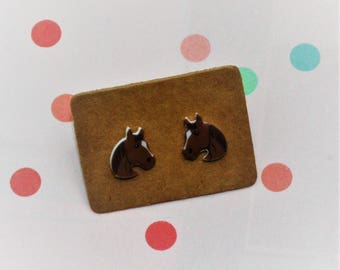 Horse Earrings, Teeny Tiny Earrings, Animal Jewelry, Cute Earrings