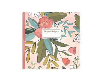 Savannah Rose Gridded Journal // 1canoe2 // Hand Illustrated