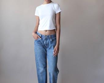 vintage levis 501 jeans | levi boyfriend jeans | 29 W