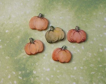 Tiny Pumpkin Embellishments set of 5