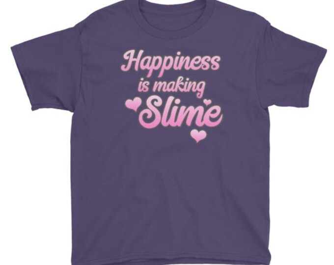 Happiness is Making Slime t-shirt, For Kids