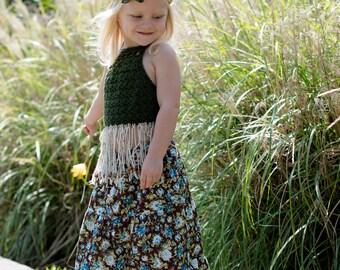 Girl's Maxi skirt - Little girls maxi skirt - Maxi skirt -Toddler Maxi skirt - Girls long skirt - Easter skirt - Spring - Bohemian skirt