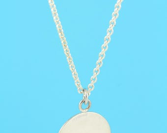 Overlapping Sterling Silver Dot Pendant Necklace