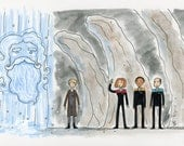 Janeway has a question - illustration inspired by a Star Trek film that wasn't made
