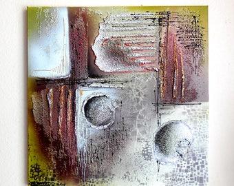 "Original Painting...Modern Art ""Graffiti""... Textured Painting...Contemporary Wall Art...Acrylic Mixed Media Painting...Abstract Painting"