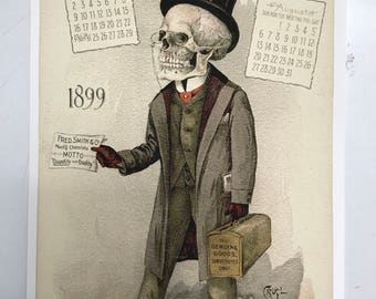 1899 Antikamnia Chemical Company Calendar. Illustrated by Louis Crusius